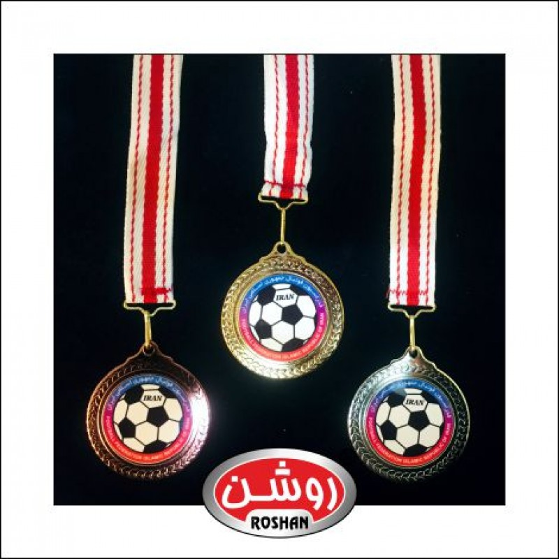 مدال قهرمانی همراه پلاک سفارشی